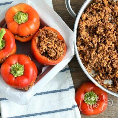Stuffed Halloween Jack O' Lantern Peppers recipe - step 7