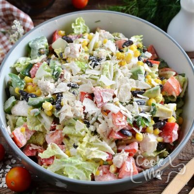 Tex-Mex Chopped Chicken Salad Recipe-How To Make Tex-Mex Chopped Chicken Salad-Delicious Tex-Mex Chopped Chicken Salad
