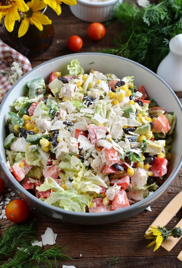 Spicy and Crunchy, Chopped Chicken Salad