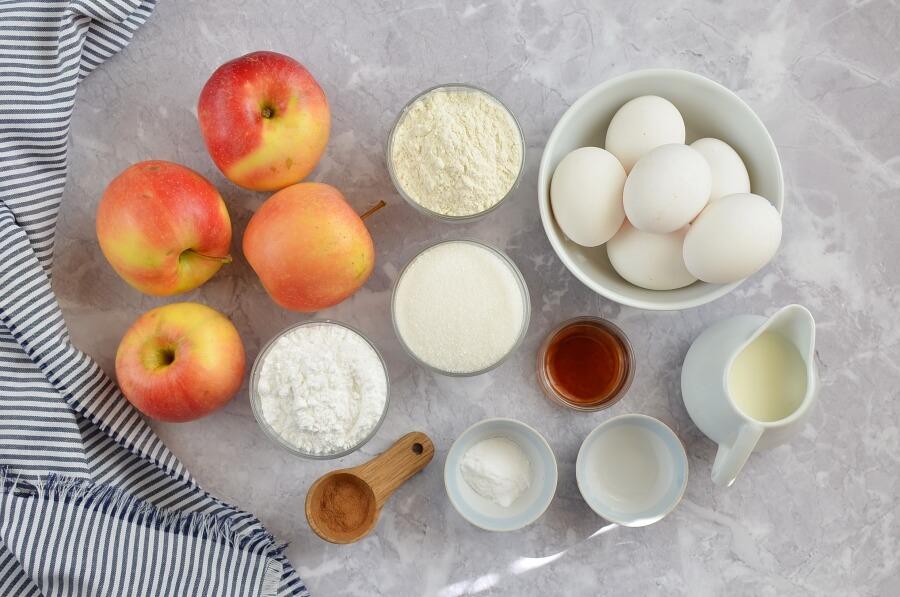 Ingridiens for Cinnamon Glaze Apple Cake