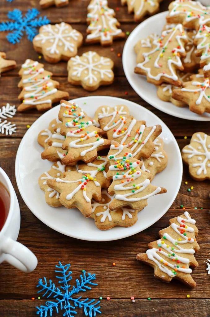 Chai Tree and Snowflake Cookies