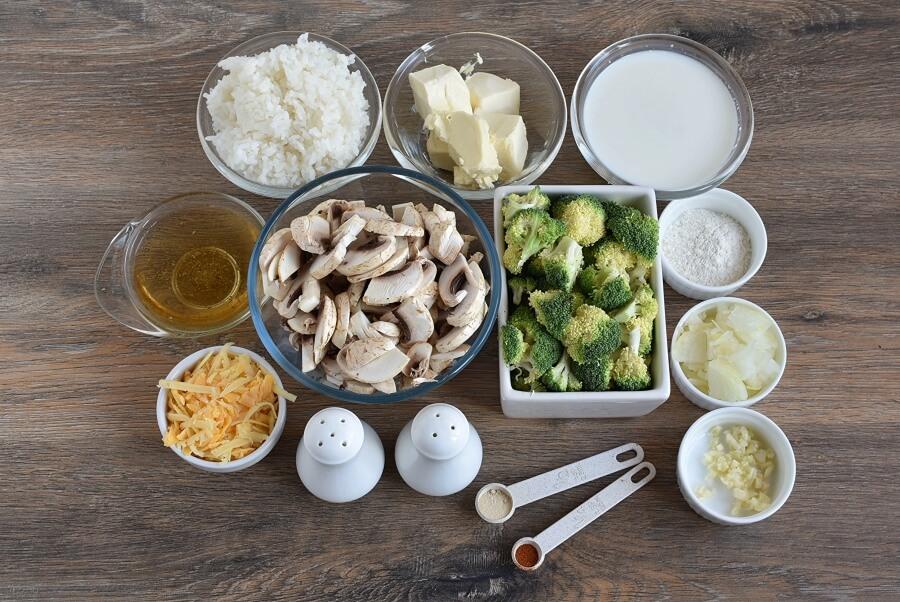 Cheesy Mushroom and Broccoli Casserole Recipe-How To Make Cheesy Mushroom and Broccoli Casserole-Delicious Cheesy Mushroom and Broccoli Casserole