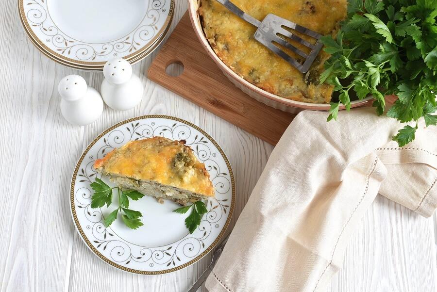 How to serve Cheesy Mushroom and Broccoli Casserole