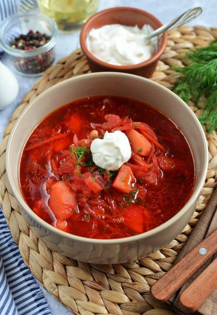 Classic Red Borscht Recipe Beet Soup Recipe Cook Me Recipes