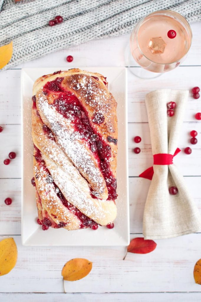 Sweet Swirl, Red Cranberry Homemade Bread
