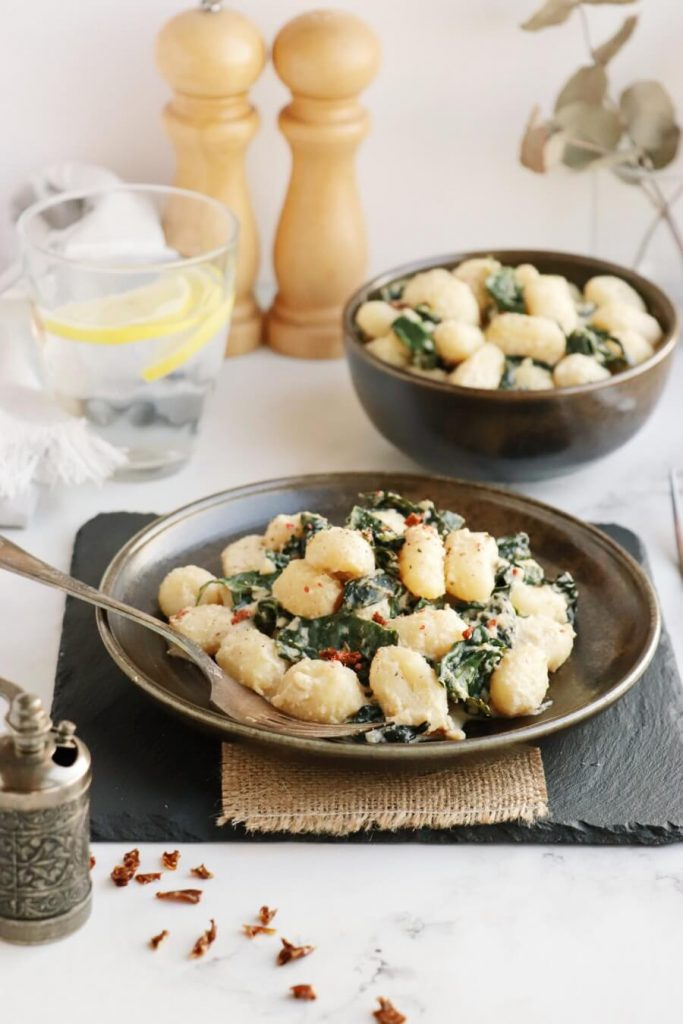 Creamy Vegan Gnocchi with Garlic & Kale Recipe-Vegan Gnocchi with Garlic & Kale-How to Make Vegan Gnocchi with Garlic & Kale