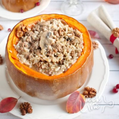 Dinner in a Pumpkin Recipe-Favorite Family Recipes-How to make Dinner in a Pumpkin
