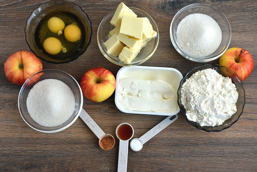 Ingridiens for French Apple Cake