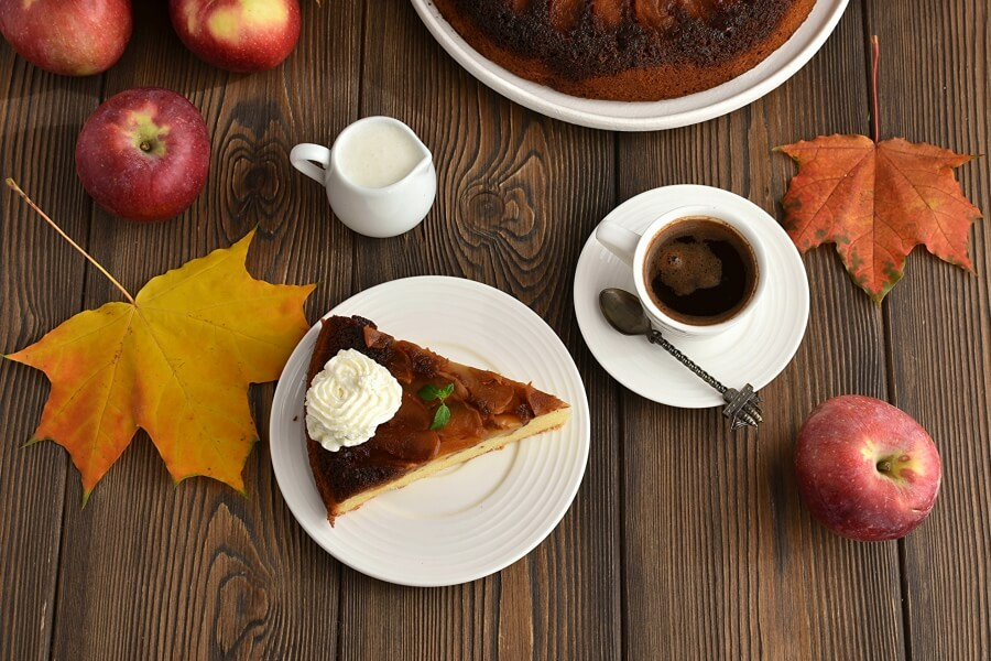 How to serve French Apple Cake