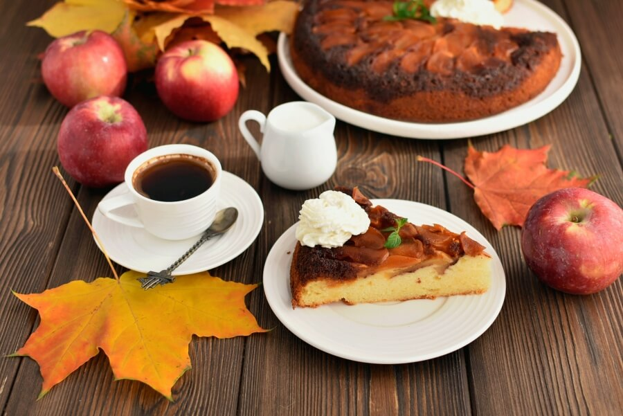 French Apple Cake Recipe-How To Make French Apple Cake-Delicious French Apple Cake