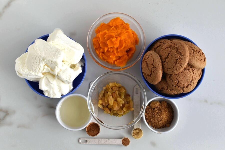Ingridiens for Frozen Pumpkin Mousse Pie