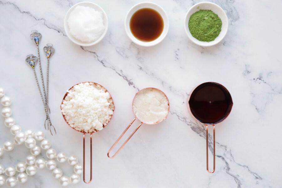 Ingridiens for Green Tea Fudge