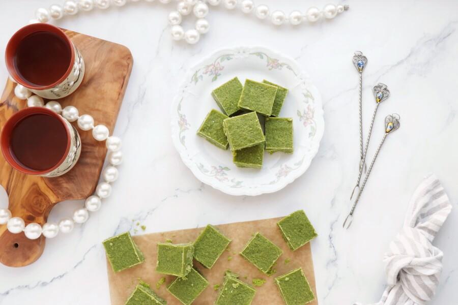 How to serve Green Tea Fudge