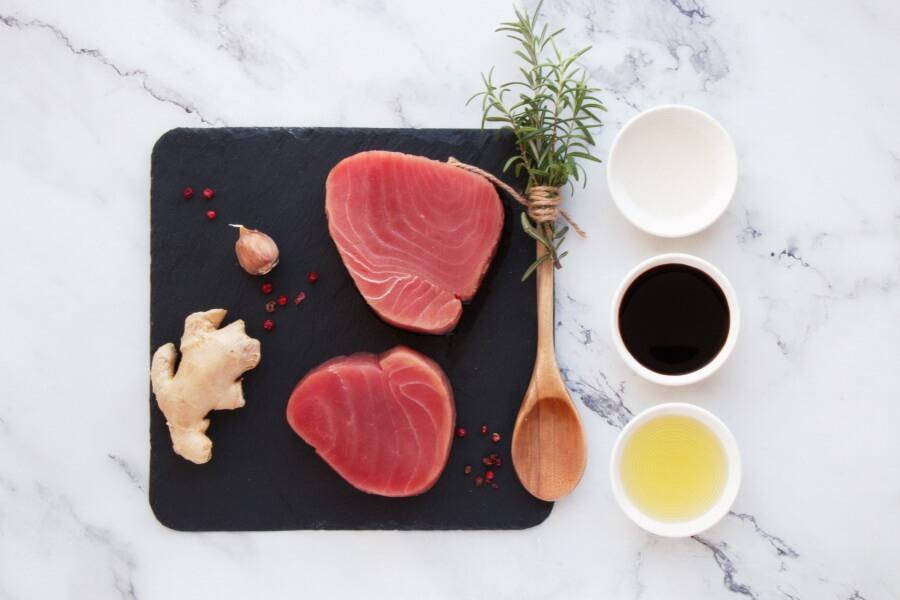 Ingridiens for Grilled Tuna Teriyaki