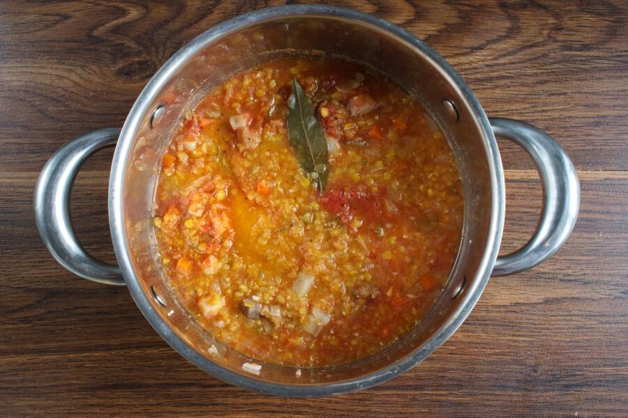 Lentil Soup with Salt Pork recipe - step 3