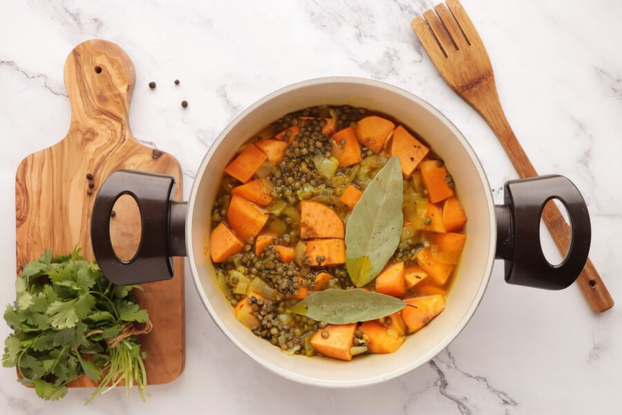 Lentil and Sweet Potato Stew recipe - step 2