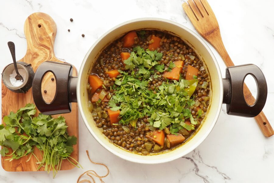 Lentil and Sweet Potato Stew recipe - step 4