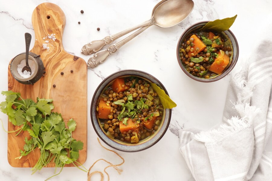 How to serve Lentil and Sweet Potato Stew