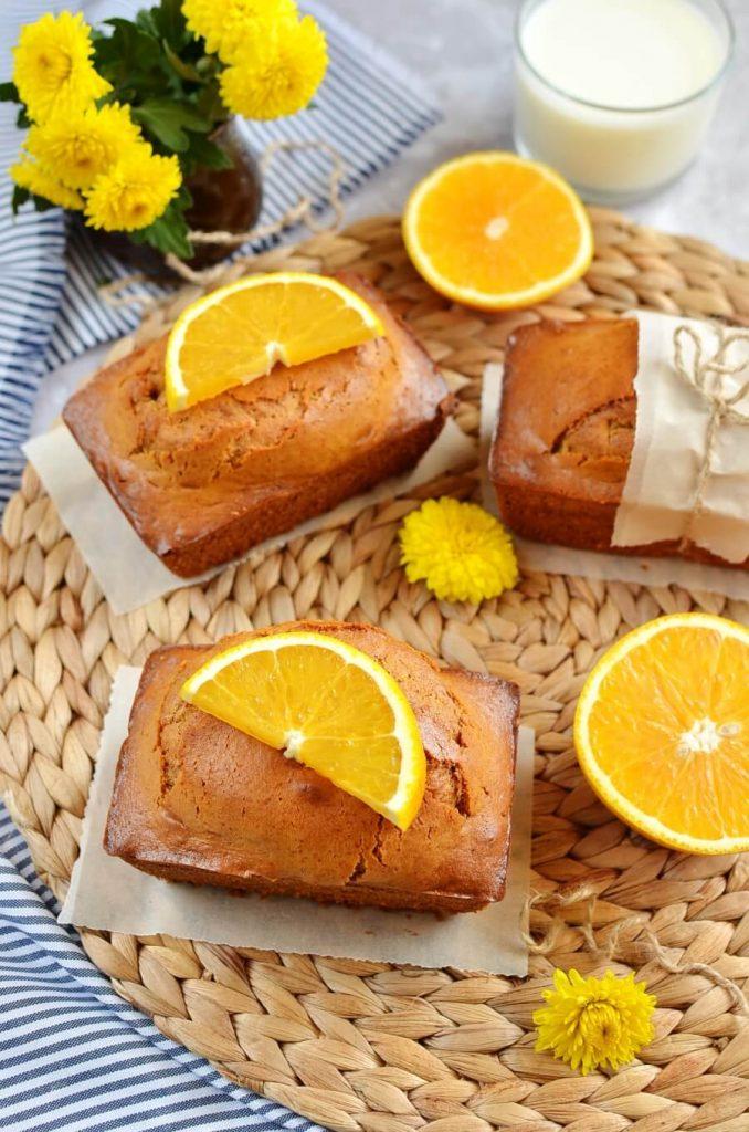 Sweet Orange and Ginger Mini Cake Loaves