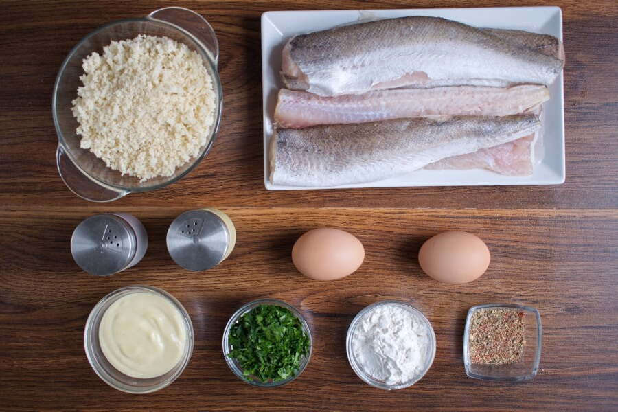 Ingridiens for Panko Crusted Oven Fried Haddock