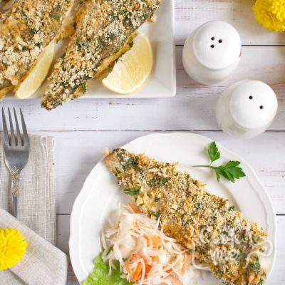 Panko Crusted Oven Fried Haddock Recipe-Baked Panko-Crusted Fish Fillets- Easy Panko Crusted Oven Fried Haddock