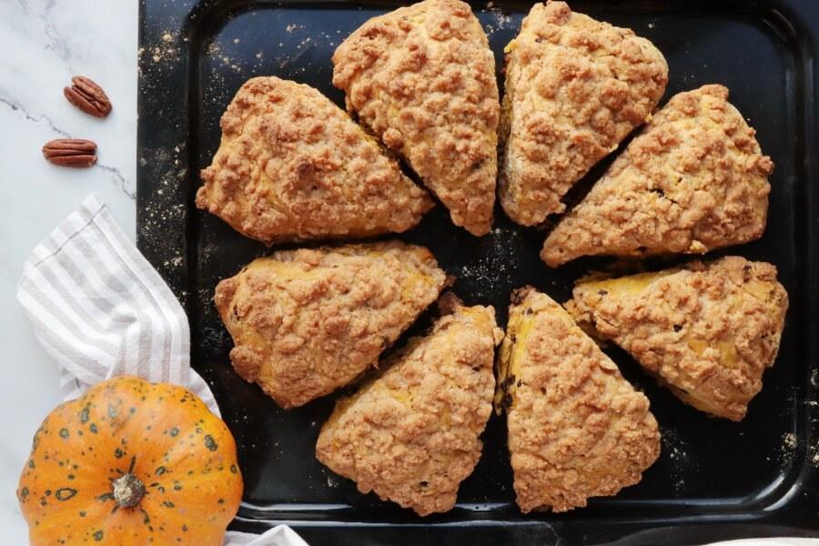 Pumpkin Pecan Scones with Brown Sugar Streusel recipe - step 9