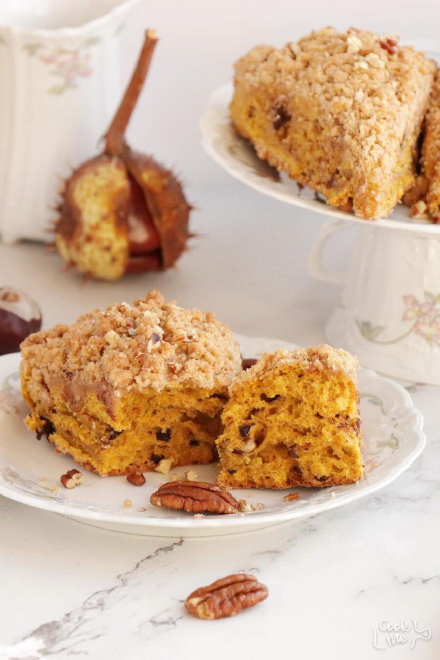 Pumpkin Pecan Scones with Brown Sugar Streusel