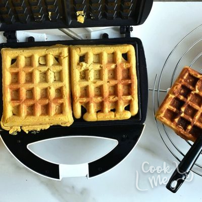 Pumpkin Waffles with Cinnamon Maple Syrup recipe - step 5