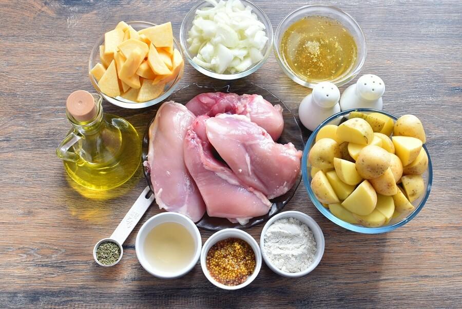 Ingridiens for Quick Roast Chicken & Root Vegetables