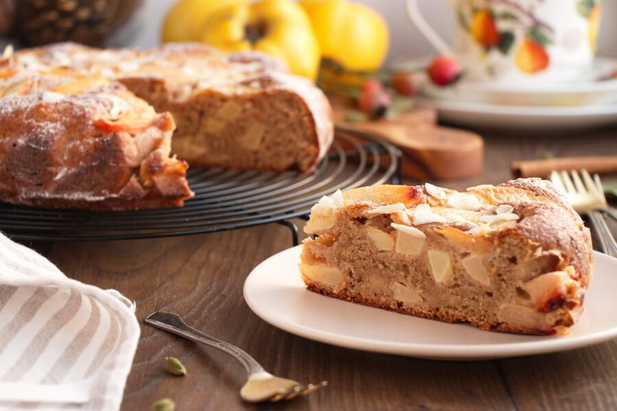 Quince and Marzipan Cake Recipe-Quince Cake-How to Make Quince and Marzipan Cake