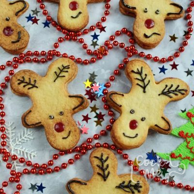 Reindeer Jammie Dodgers Recipe-How To Make Reindeer Jammie Dodgers-Homemade Reindeer Jammie Dodgers