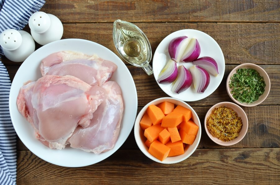 Ingridiens for Low Carb Roast Chicken & Sweet Potatoes