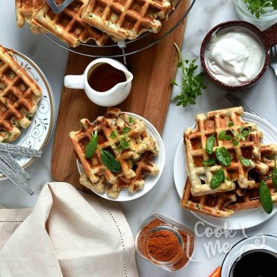 Savory Veggie Waffles Recipe-How To Make Savory Veggie Waffles-Delicious Savory Veggie Waffles