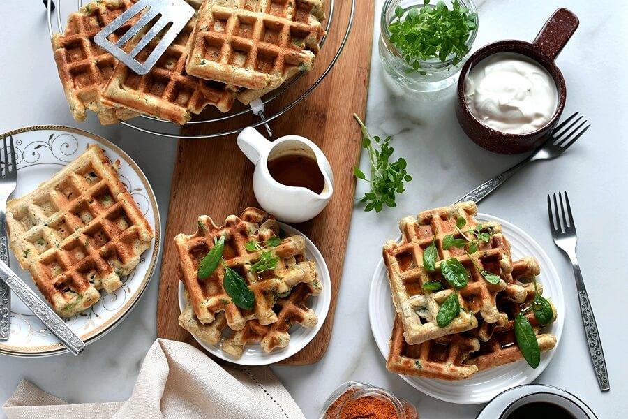 How to serve Savory Veggie Waffles