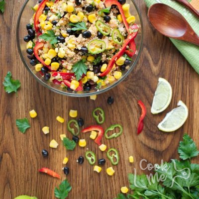 Southwest Quinoa Salad Recipe-Mexican Quinoa Salad with Black Beans-Southwest Quinoa Salad Lime Dressing