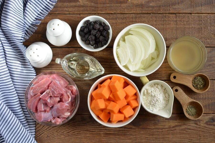 Ingridiens for Sweet & Savory Beef Stew