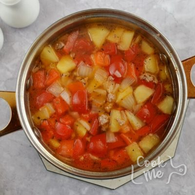 Sweet and Sour Beef Cabbage Stew recipe - step 3