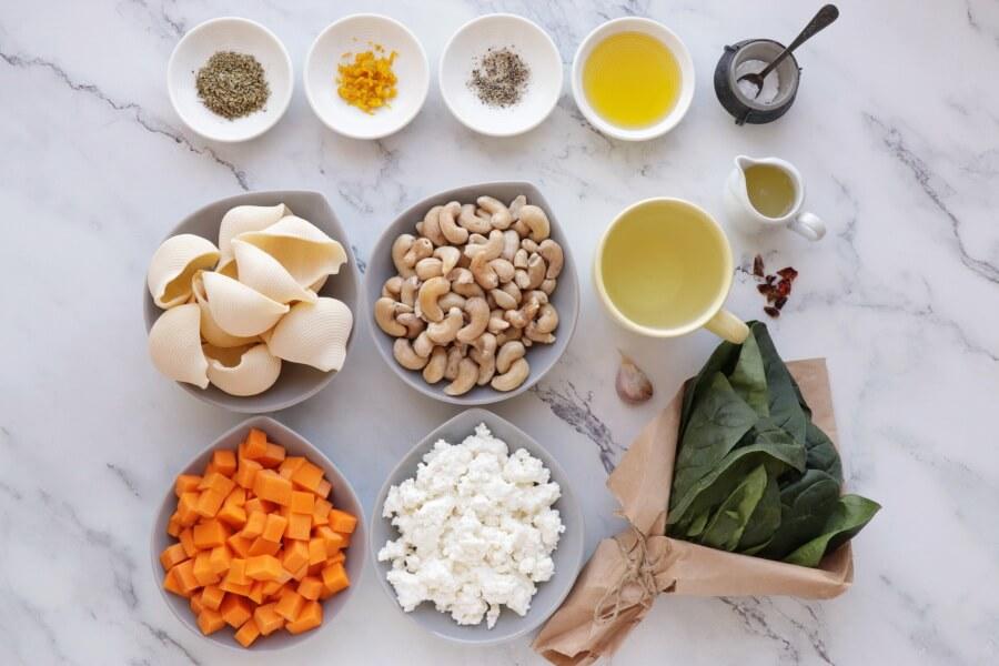 Vegan Butternut Squash Stuffed Shells Recipe-How to Make Vegan Butternut Squash Stuffed Shells-Easy Vegan Butternut Squash Stuffed Shells
