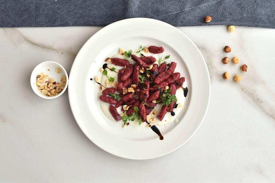 How to serve Vegan Gluten Free Beetroot Gnocchi