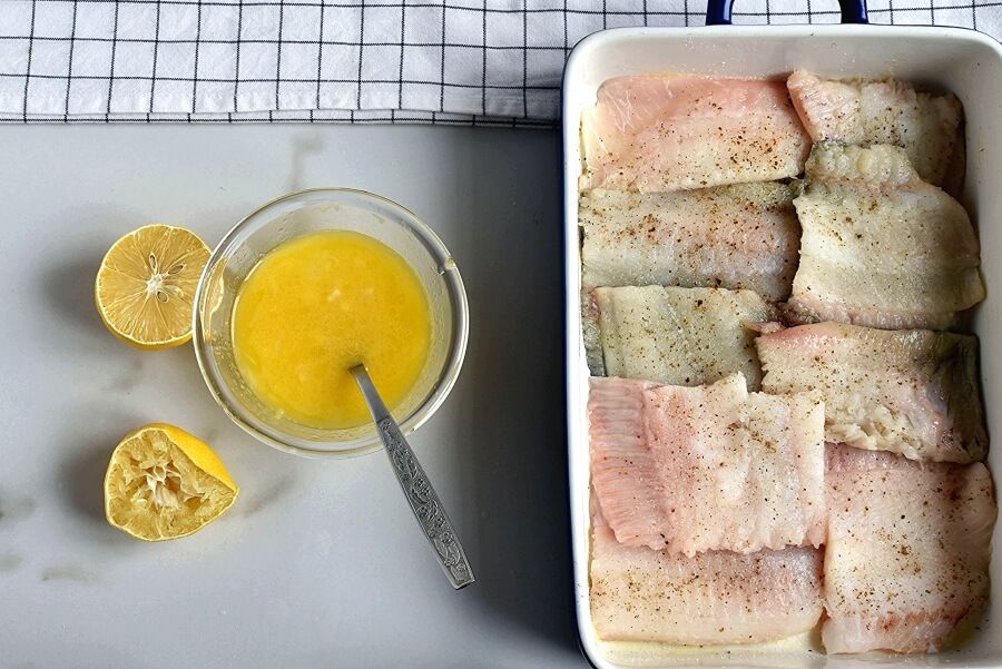 Baked Flounder with Lemon and Butter recipe - step 3