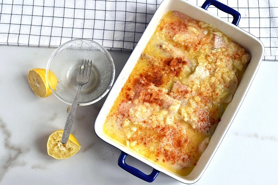Baked Flounder with Lemon and Butter recipe - step 4