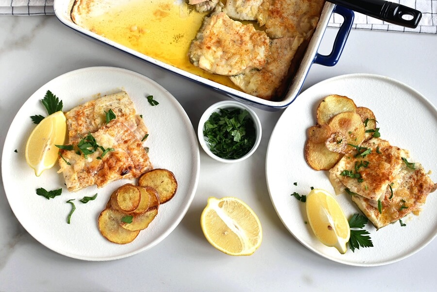 How to serve Baked Flounder with Lemon and Butter