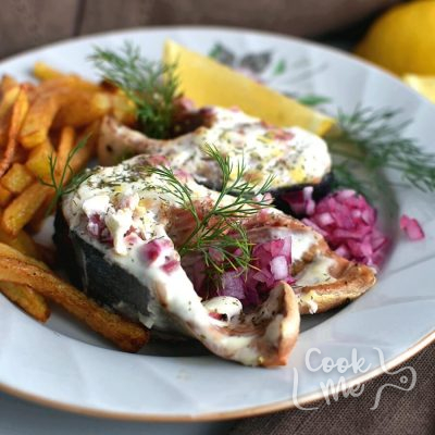 Baked Salmon Steaks with Sour Cream and Dill Recipe-How To Make Baked Salmon Steaks with Sour Cream and Dill-Easy Baked Salmon Steaks with Sour Cream and Dill