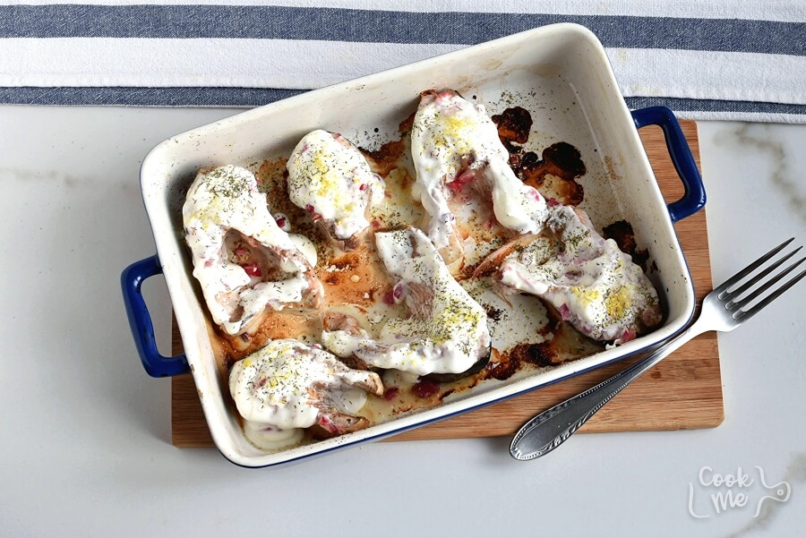 Baked Salmon Steaks with Sour Cream and Dill recipe - step 5