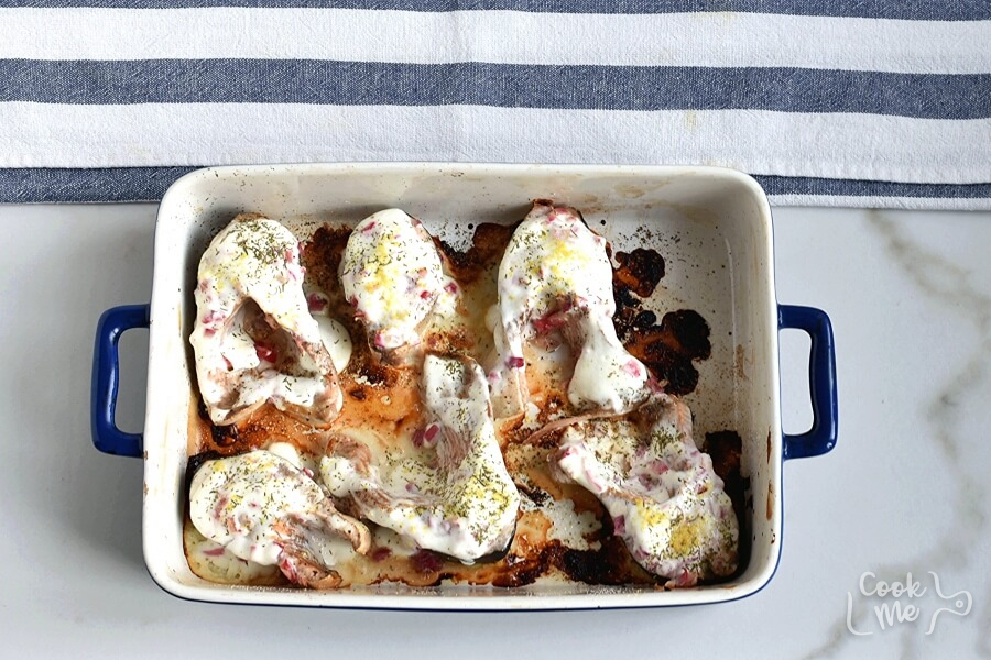 Baked Salmon Steaks with Sour Cream and Dill recipe - step 6