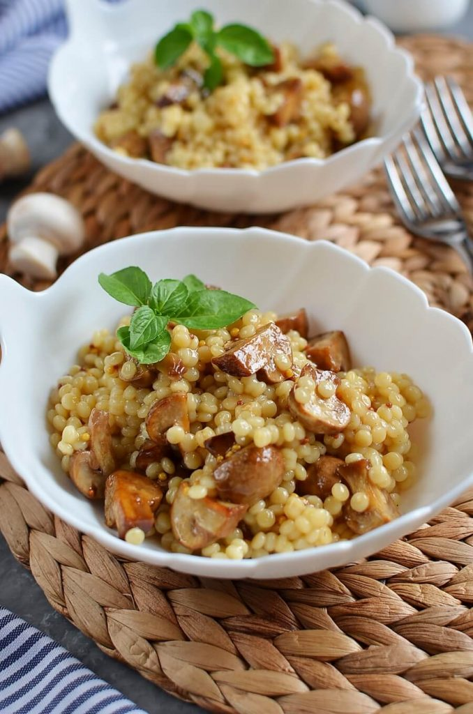Mediterranean Couscous and Mushroom with Balsamic