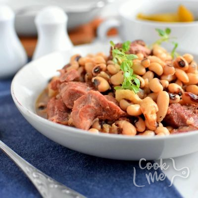 Black-Eyed Peas with Bacon and Pork Recipe-How To Make Black-Eyed Peas with Bacon and Pork-Delicious Black-Eyed Peas with Bacon and Pork