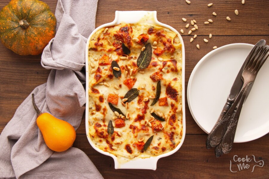 How to serve Butternut Squash and Sundried Tomato White Lasagna