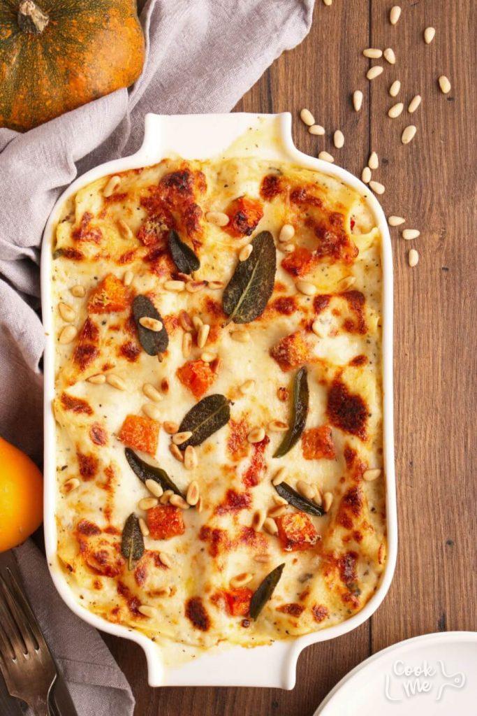 Butternut Squash and Sun-Dried Tomato White Lasagna Recipe-How to Make Butternut Squash and Sun-Dried Tomato White Lasagna