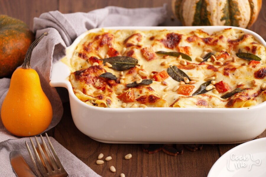 Butternut Squash and Sun-Dried Tomato White Lasagna Recipe-How to Make Butternut Squash and Sun-Dried Tomato White Lasagna